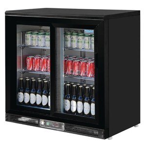 Polar Barkoeling mit 2 Glas-Schiebetüren - 182 Bottles - 233 Liter - 900 (b) x520 (d) X920 (H) mm