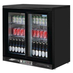 Polar Barkoeling with 2 Glass Sliding - 182 Bottles - 233 liters - 900 (b) x520 (d) X920 (H) mm
