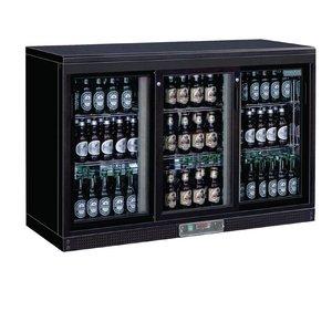 Polar Bar fridge + 3 Sliding Glass - 268 bottles - 335 liters - 1350 (b) x520 (d) X920 (H) mm