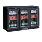 Polar Bar Kühlschrank + 3 Falttore Glass - 268 Flaschen - 335 Liter - 1350 (b) x520 (d) X920 (H) mm