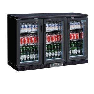 Polar Bar Kühlschrank + 3 Falttore Glass - 268 Flaschen - 335 Liter - 1.350 (b) x520 (d) X920 (H) mm