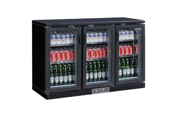 Polar Barkoelkast + 3 Klapdeuren van Glas - 268 Flessen - 335 liter - 1350(b)x520(d)x920(h)mm