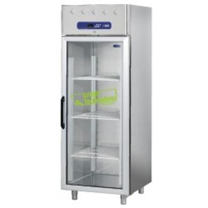 Diamond Freezer with glass door - stainless steel - 700 Liter - 75x82x (h) 203cm - DELUXE
