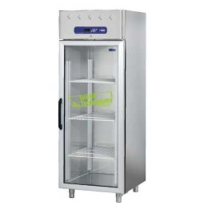 Diamond Freezer with glass door - stainless steel - 700 Liter - 75x82x (h) 203cm - DELUXE