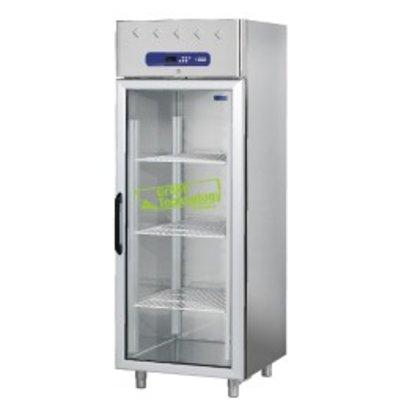 Diamond Tiefkühlschrank mit Glastür - Edelstahl - 700 Liter - 75x82x (h) 203cm - DELUXE