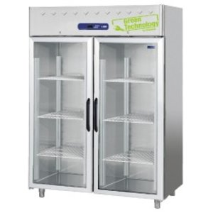 Diamond Freezer with glass door - stainless steel - 1400 Liter - 150x82x (h) 203cm - DELUXE
