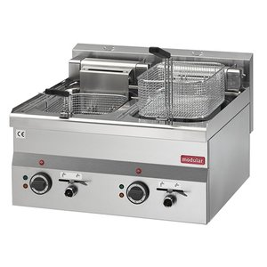 Modular Fryer Series 600 Modular | Electrical | With Bleed taps | 2x10 Liter | 15 kW | 400V | 600x600x (H) 280cm
