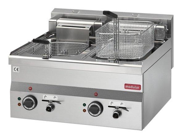 Modular Fryer Series 600 Modular | Electrical | With Bleed taps | 2x10 Liter | 15 kW | 400V | 600x600x (H) 280cm