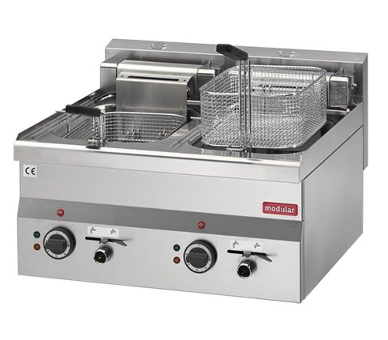 Modular Fryer Series 600 Modular | Electrical | Mit Ablasshähne | 2x10 Liter | 15 kW | 400V | 600x600x (H) 280cm