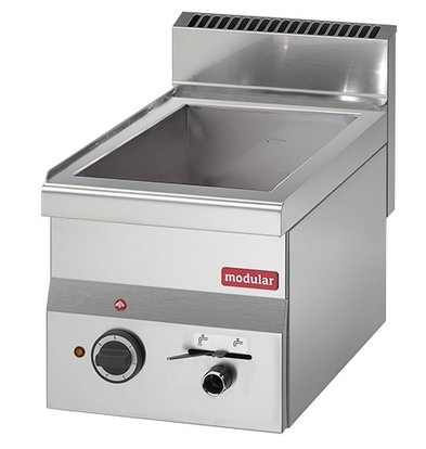 Modular Bain Marie 600 Modular | 1/2 GN and 1/4 GN | 150mm deep | With drain valve | 300x600x (H) 280mm