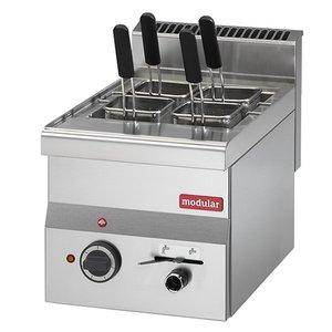 Modular Pastakoker 600 Modular | Elektrisch | 230V | Met Aftapkraan | 14 Liter | 300x600x(H)280mm
