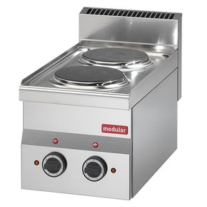 Modular 600 Modular Electric stove | 2 Pits | 4 kw | Power Version | 300x600x (H) 280mm