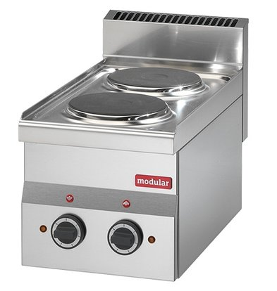 Modular 600 Modular Electric stove   2 Pits   4 kw   Power Version   300x600x (H) 280mm
