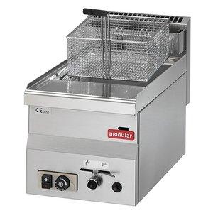 Modular Friteuse 600 Modular | Gas | 8 Liter | 6,8 kW Propaan | 300x600x(H)280mm