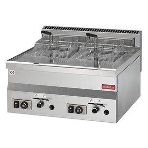 Modular Fryer 600 Modular | Gas | 2x8 Liter | 13,6 kW | 600x600x (H) 280mm