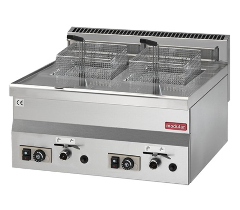 Modular Friteuse 600 Modular   Gas   2x8 Liter   13,6 kW Propaan   600x600x(H)280mm