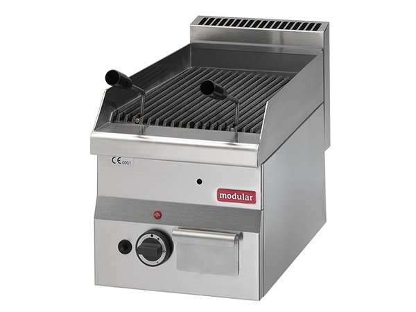 Modular Lava Stone grill 600 Modular Stainless Steel Gas Grill -with Rooster - 30x60x (h) 28cm - 5.5KW