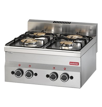 Modular Stove Modular 600 | 4 burner | 13,8 kW | 600x600x (H) 280mm