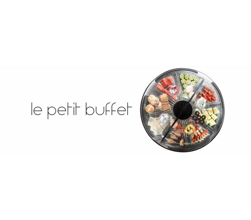 XXLselect Koelvitrine - Zwart - Ronde Presentatie Buffet - 95Øx(h)75cm