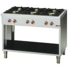 Diamond Stove with open undercarriage 6 burner 3,6kW + 3 x 3 x 5kw - 110 x65x85cm