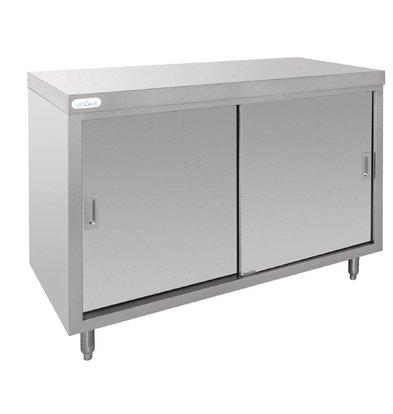 XXLselect Cupboard SS on 4 Paws | 2 Sliding doors | 120x60x90 (h) cm