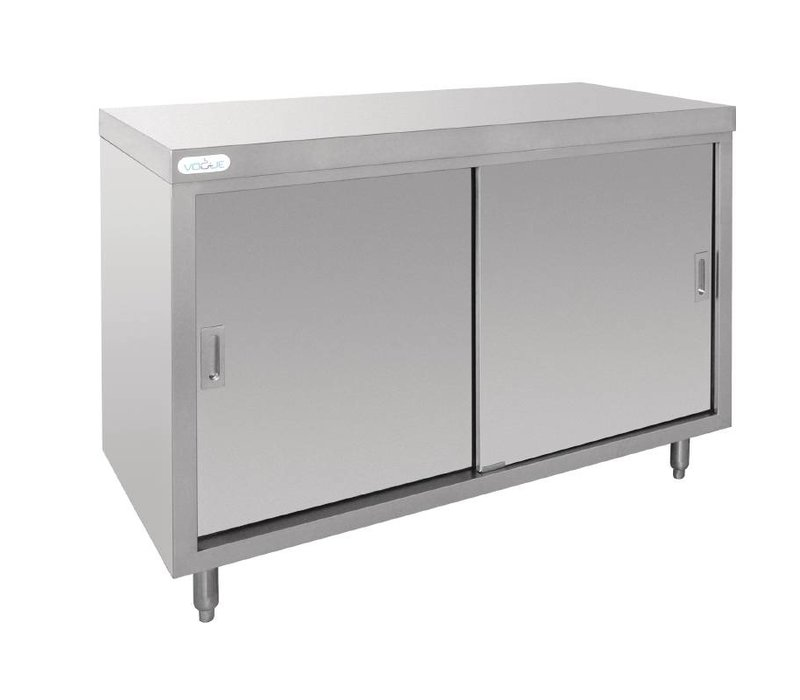 XXLselect Cupboard stainless steel with 2 Sliding doors - 120x60x90 (h) cm