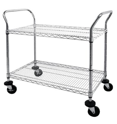 XXLselect Trolley Chromed steel rods - two bars - 910x460x (h) 960mm