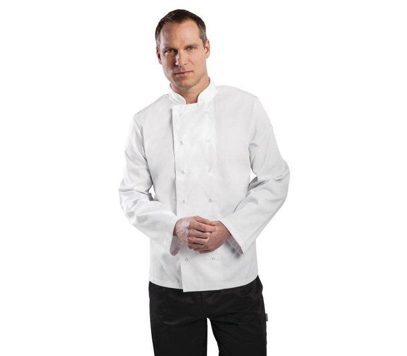 XXLselect Cooks Rohr Vegas mit Druckknöpfen - mit langen Ärmeln - Erhältlich in 6 Größen - Unisex - White