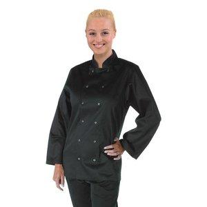 XXLselect Whites Vegas Chefs Tube - Long Sleeves - Available in 6 sizes - Black