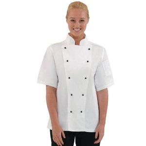 XXLselect Chicago White Cooks Rohr mit kurzen Ärmeln - Erhältlich in 6 Größen - Weiß