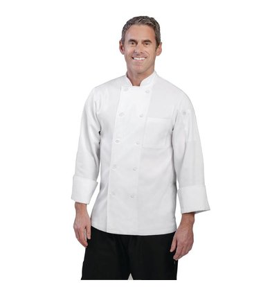 Chef Works Chef Works Chefs Buis Le Mans - Long Sleeves - Available in 6 sizes - Unisex - White