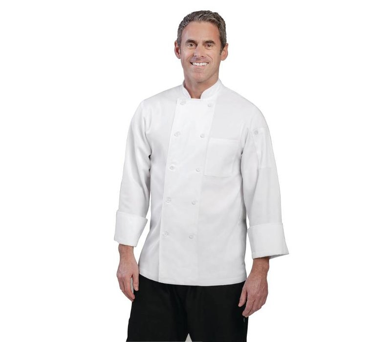 XXLselect Chef Works Chefs Buis Le Mans - Long Sleeves - Available in 6 sizes - Unisex - White