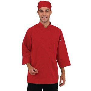 XXLselect Chef Works colored Cooks Tube 3/4 sleeve - Available in 6 sizes - Red