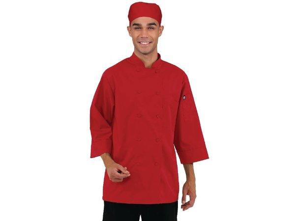 XXLselect Chef Works gekleurde Koksbuis 3/4 Mouw - Beschikbaar in 6 maten - Rood
