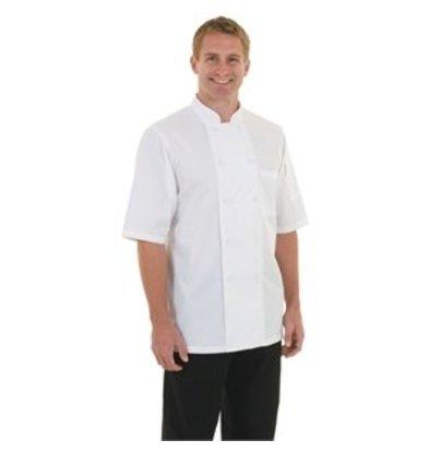 Chef Works Chef Works Chefs Rohr Monteal - kurze Ärmel - Erhältlich in 6 Größen - Weiß
