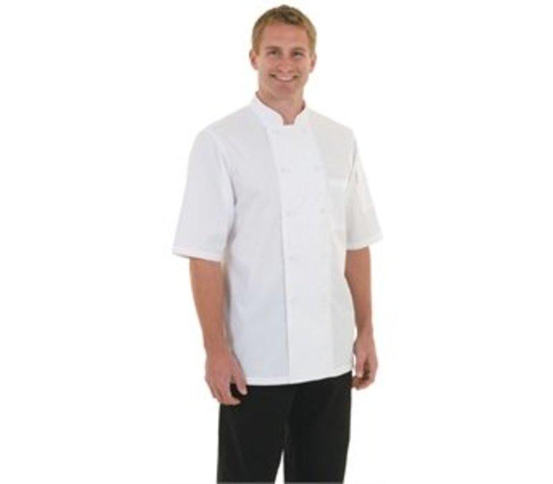XXLselect Chef Works Chefs Rohr Monteal - kurze Ärmel - Erhältlich in 6 Größen - Weiß