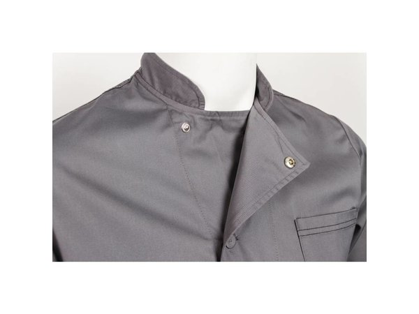 XXLselect Chef Works Chefs tube Valais - Short Sleeves - Available in 6 sizes - Grey