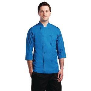 XXLselect Chef Works lite Koksbuis - 3/4 Mouw - Beschikbaar in 6 maten - Unisex - Blauw