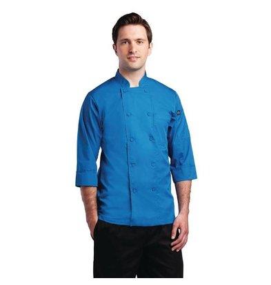 Colour by Chef Works Chef Works Lite Chefs Tube - 3/4 Ärmel - Erhältlich in 6 Größen - Unisex - Blau