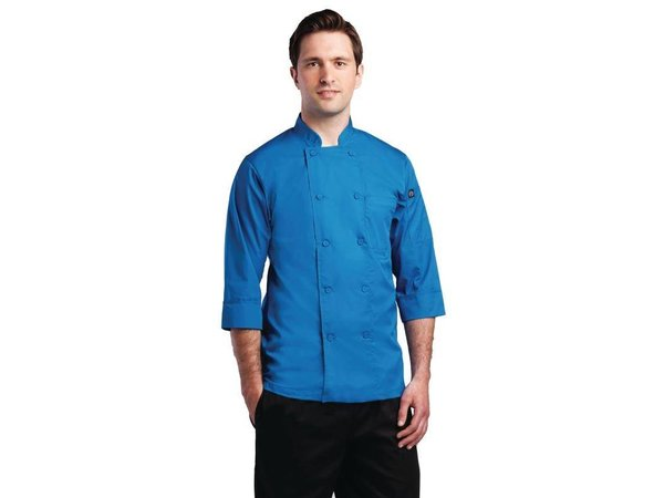 XXLselect Chef Works Lite Chefs Tube - 3/4 sleeve - Available in 6 sizes - Unisex - Blue