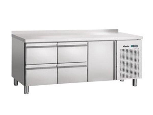 Bartscher Koelwerkbank - 1 door 4 drawers - Stainless steel - 179x70x (h) 85cm