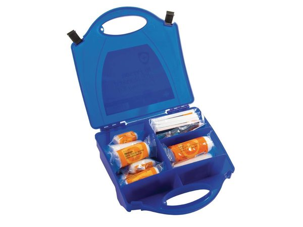 XXLselect First Aid Box Catering - 10 Persons - Blue
