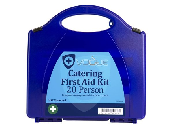 XXLselect First Aid Box Catering - 20 Persons - Blue