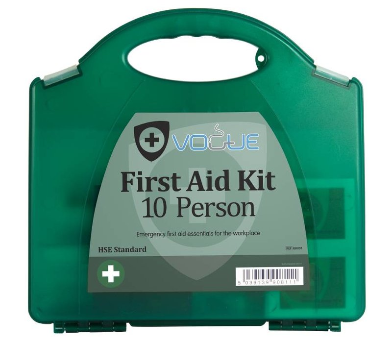 XXLselect First Aid Case - For Proffesional & Private - 10 Persons - Green