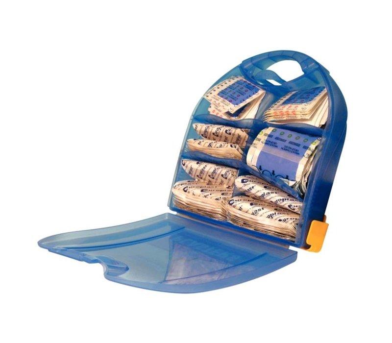 XXLselect Piccolo Pleisterdispenser- 200 blauen Flecken - Inklusive Wandhalterung
