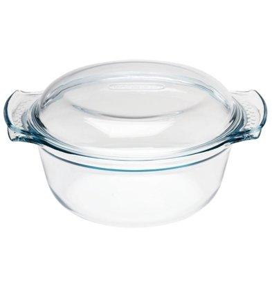 Pyrex Ofenschale Runde Bratpfanne | 1,5 Liter | 24,5x19,5x9,5cm