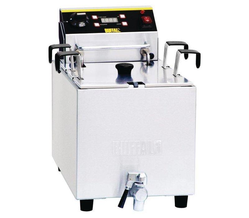 XXLselect Nudelkocher mit Timer und Ablassventil | SS | 8 Liter | 230 | 283x516x433 (h) mm
