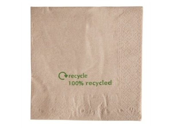 XXLselect Disposable napkins - Layer 2 - Recycled - 2000 pieces - 32x33cm