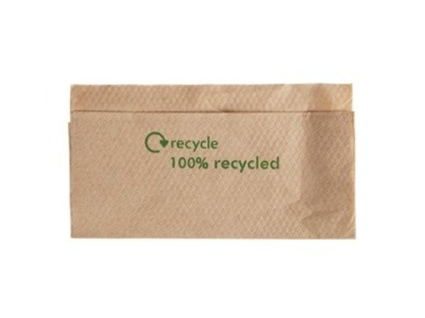 XXLselect Disposable Servetten - 1 Laags - Gerecycled - 6000 stuks - 32x33cm