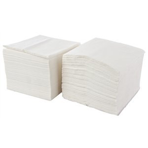 XXLselect Disposable napkins - Layer 1 - white - 33x33cm - Price per 5000 pieces